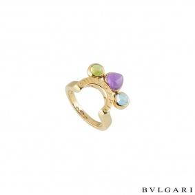 Bvlgari Yellow Gold Multi-Gemstone Allegra Ring